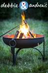 Win a steel firepit worth £160 and a debbie&andrew's recipe book - www.realhomesmagazine.co.uk