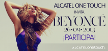 BEYONCE en México ALCATEL ONE TOUCH invita - www.alcatelonetouch.com
