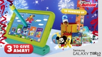 Enter for a chance to win the first prize of a Samsung GALAXY Tab 3 7inch - www.disney.co.uk/