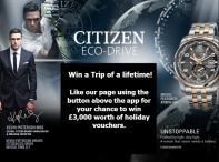 Citizen Watch Win a trip of a lifetime! - www.citizenwatch.co.uk