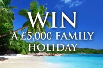 Enter for your chance to win an amazing family holiday worth £5000 - www.john-west.co.uk