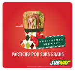 Subway Colombia Aguinaldos Subway - www.subwaycolombia.com