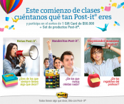 Post-it Chile Concurso Back To School - post-it.cl‎