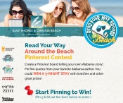 Enter to win One three-night stay with Innisfree value $450 and One Kindle Fire - www.gulfshores.com