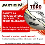 ¡GANATE LA PELOTA DE LOS ALL BLACKS! - www.torosports.co.nz