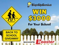 2014 Back-to-School Giveaway Sponsored by Booster - www.SignUpGenius.com
