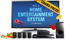 Win a a large screen LED Smart HDTV plus a Blu-ray Home Theater System APV $1800 - www.justborn.com