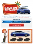 Enter to win $23935 voucher to be applied towards the purchase of a 2014 Ford Fusion SE - www.fordgameon.com