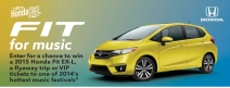 Enter to win A 2015 Honda Fit EX-L vehicle - music.honda.com