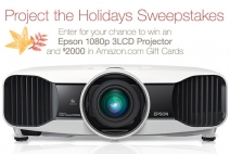 Enter to win A $2000.00 Amazon.com Gift Card and An Epson 5030UB 2D/3D 1080p 3LCD Projector 'ARV� $2499 - www.amazon.com