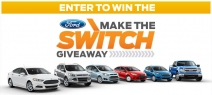 Enter to win $30000 voucher towards the purchase one of following vehicles: 2014 Fiesta 2014 Focus 2014 F-150 2014 Fusion - www.maketheswitchgiveaway.com
