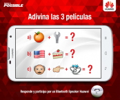 ¡CONCURSO! Adivina las 3 películas que esconden estos emoticones y GANA un espectacular parlante bluetooth SPEAKER Huawei. - huaweidevice.cl