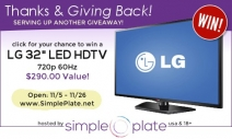 LG 32″ LED HDTV Giveaway! - eightymphmom.com