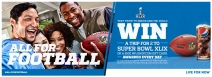 Enter for your chance to win a trip to Super Bowl XLIX or a $100 NFLShop.com gift card! - www.pepsifootball2014.com