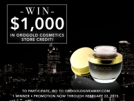 Win a $1000 credit to - orogoldcosmetics.com