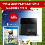 Win A Sony Play Station 4 & Madden NFL 15 Worth $450 - Melanys Guydlines