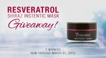 WIN the Resveratrol Shiraz Instentic Mask $500 value -  WIN Vine Vera Products