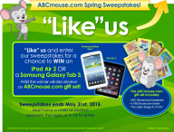 Enter for your chance to win an iPad Air 2 or a Samsung Galaxy Tab 3 - ABC Mouse