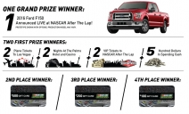 Win the brand new 2016 Ford F-150 - Nascar