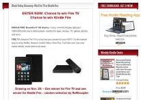 Black Friday Giveaway: Win Kindle Fire or Fire TV - www.kindlebookpromos.luckycinda.com