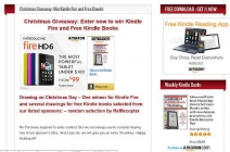 Christmas Giveaway: Win a Kindle Tablet and Free Ebooks - www.kindlebookpromos.luckycinda.com