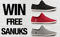 Win a Free Pair of Sanuks - www.videostakes.com