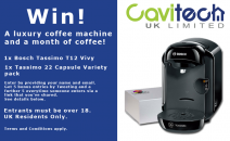Win a Bosch Tassimo Coffee Machine Bundle! - www.cavitech-uk.com