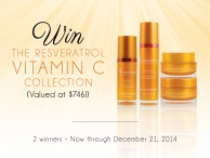 WIN the Resveratrol Vitamin C Collection $746 value! - www.vineveragiveaway.com