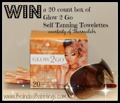 Win a box of Glow2Go Self Tanning Towelettes - www.thermalabs.com