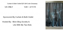 Curtain & Bath $25 Gift Code Giveaway - Swanky point of view