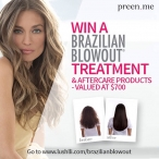 Win a Brazilian Blowout treatment & aftercare products  valued at $700! - Preen.Me