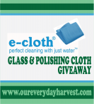 Green Spring Cleaning with e-cloth #GIVEAWAY - Our Everyday Harvest