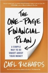 FREE Book - The One-Page Financial Plan by Carl Richards - Bright Cents