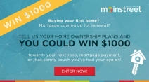 Win $1000 towards your next mortgage payment or home reno project! - Mainstreet Credit Union
