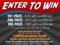 Win $200 in prizes from PuzzleMaster
