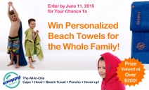 Win Personalized Beach Towels For The Whole Family! - Snappy Towels