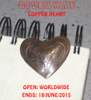 Hand engraved copper heart pendant - Magic Jewellery Box