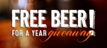 Free Beer For A Year Giveaway - Straight To The Pint