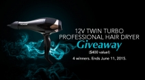 12V Twin Turbo Professional Hair Dryer Giveaway - Lionesse