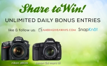 SnapKnot Free Camera Giveaway - Cameragiveaways and SnapKnot