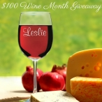 $100 Wine Month Giveaway - Memorable Gifts