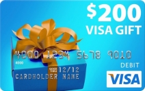 $200 Visa Gift Card Giveaway - C'mon Coupon