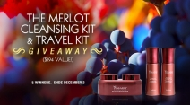 The Merlot Cleansing Kit & Travel Kit Giveaway - Vine Vera