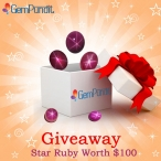 GEMPUNDIT GIVEAWAY: WIN A SPARKLING STAR RUBY WORTH UPTO $100! - gempundit