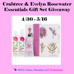 Crabtree & Evelyn Rosewater Essentials Gift Set Giveaway ends 5/16 - IMHO Views Reviews and Giveaways