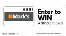 $100 Marks Gift Card Giveaway - One Smiley Monkey