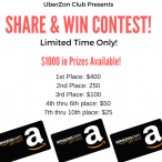 Win $400 Amazon Gift Card - UberZonClub
