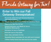 Bradenton Fall Harvest Getaway for Two - Bradenton Area Convention and Visitors Bureau