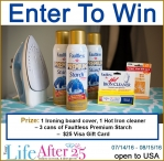$25 Visa Gift Card + Faultless Prize Pack Giveaway - Your Life After 25