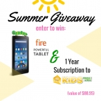 Kindle Fire + 1 Year Of Kids Email Giveaway - Kids Email